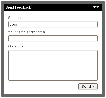 boxy - Facebook-like dialog/overlay, with frills